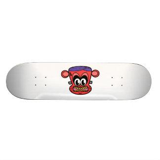Red Frankenstein monkey Skateboard Deck