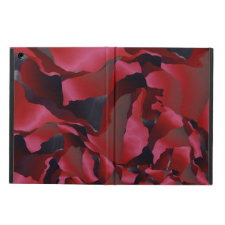 Red frayed abstraction cover for iPad air