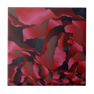 Red frayed abstraction tile
