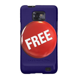 Red Free Button Galaxy S2 Cover
