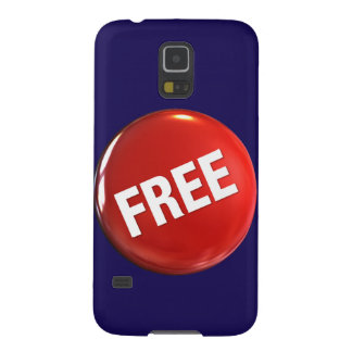 Red Free Button Galaxy S5 Cover