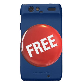 Red Free Button Motorola Droid RAZR Cover