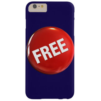 Red Free Button Barely There iPhone 6 Plus Case