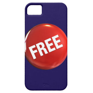 Red Free Button iPhone 5 Covers