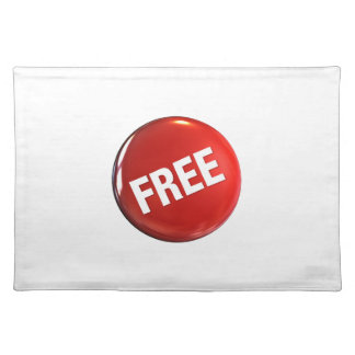 Red Free Button Cloth Placemat