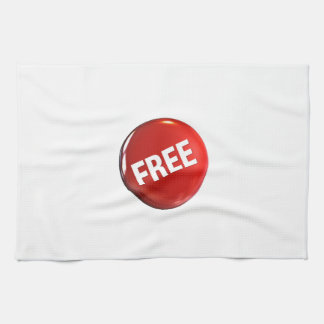 Red Free Button Hand Towel
