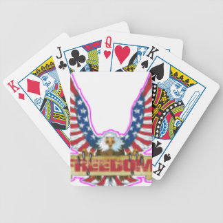 Red Freedom Eagle Banner Bicycle Playing Cards
