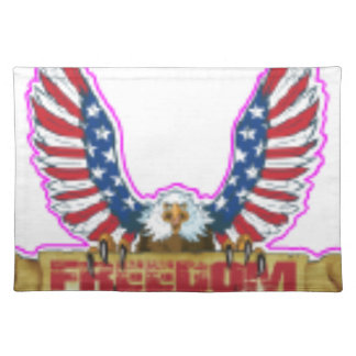 Red Freedom Eagle Banner Placemat