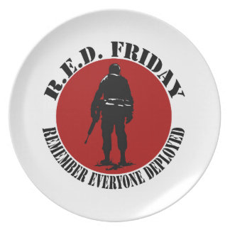 RED FRIDAY - REMEMBER EVERYONE DEPLOYED PLATE