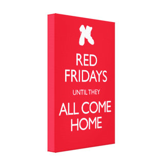 Red Fridays Vintage Military Gallery Wrapped Canvas