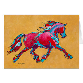 Red Friesian Card