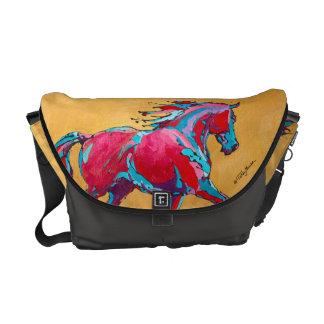 Red Friesian Messenger Bag