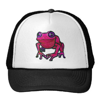 Red frog cap