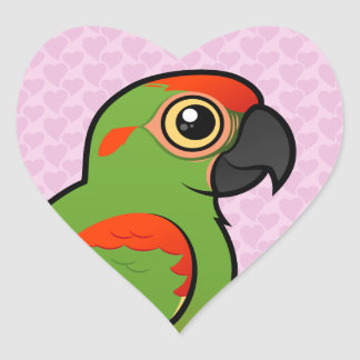 Red-fronted Macaw Heart Sticker