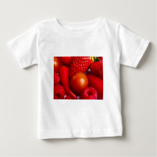 Red Fruit and Vegetables Infant Tee Shirt