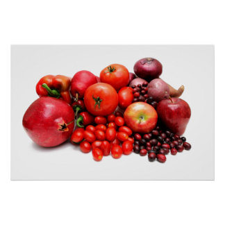 Red Fruit And Vegetables Poster