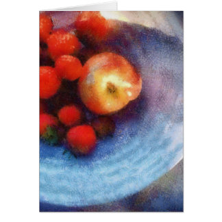 Red Fruit in White Bowl Card