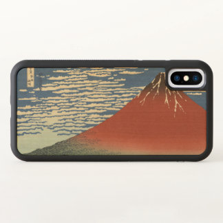 Red Fuji, South Wind, Clear Sky Hokusai GalleryHD iPhone X Case