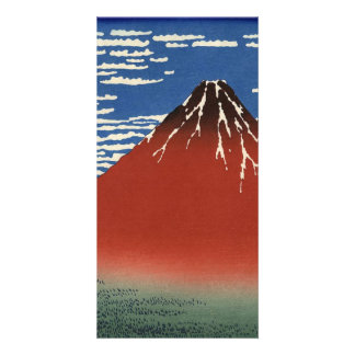Red Fuji southern wind clear morning Personalized Photo Card