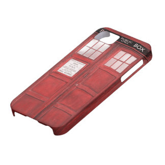 Red Funny Phone Booth Call Box iPhone 5 Covers
