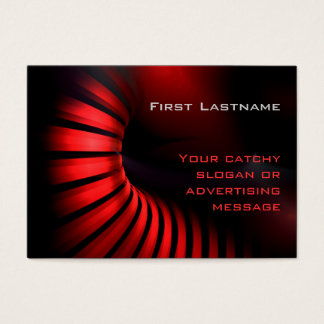 red futuristic Business Card