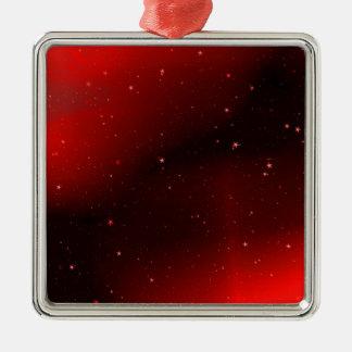Red galaxy Silver-Colored square decoration