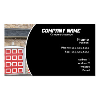 Red Garage Door Pack Of Standard Business Cards