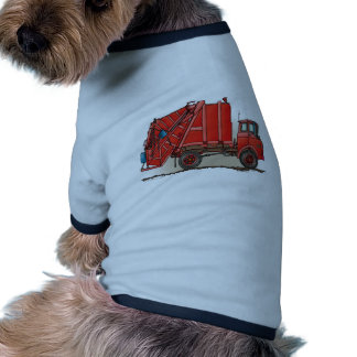 Red Garbage Truck Doggie Tee