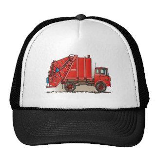 Red Garbage Truck Trucker Hats