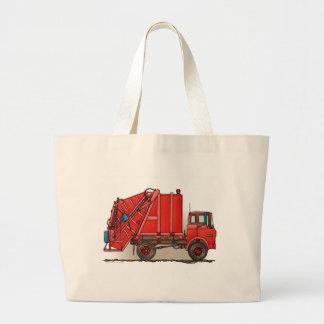 Red Garbage Truck Jumbo Tote Bag