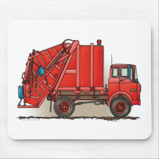 Red Garbage Truck Mousepad