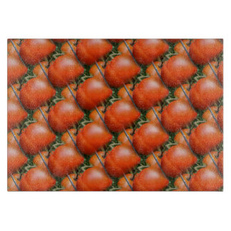 Red Garden Tomatoes Nature Art Pattern Cutting Board
