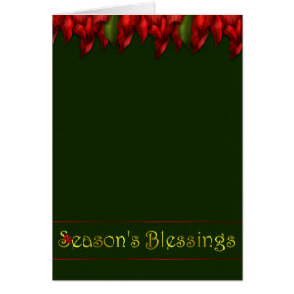 Red Garland Blessings Card