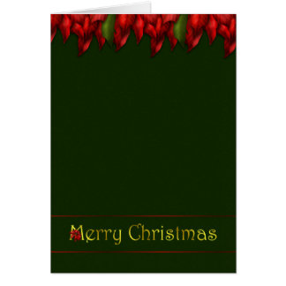 Red Garland Christmas Card
