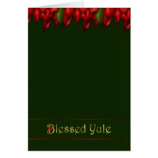 Red Garland Yule Card