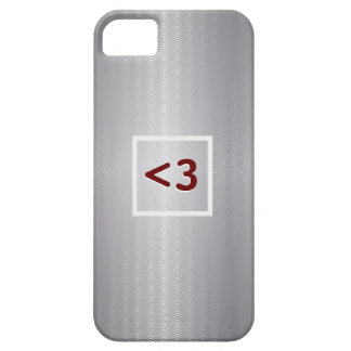 Red Geeky Love Metallic iPhone 5 Case