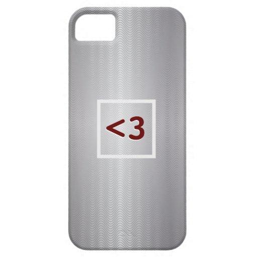 Red Geeky Love Metallic iPhone 5 Case