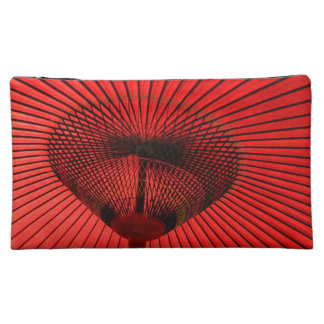 Red Geisha Parasol Bag Cosmetics Bags