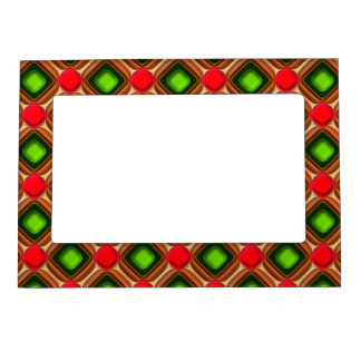 Red Gem Pattern Magnetic Picture Frame