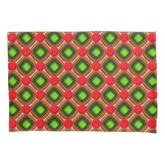 Red Gem Pattern Pillowcase