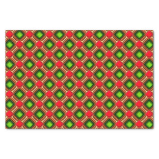 Red Gem Pattern Tissue Paper
