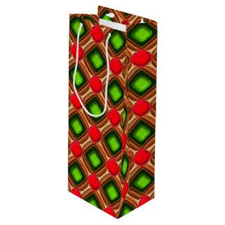 Red Gem Pattern Wine Gift Bag