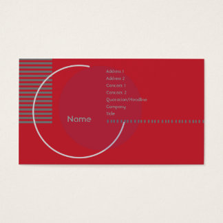 Red Geometric Circle - Business Business Card