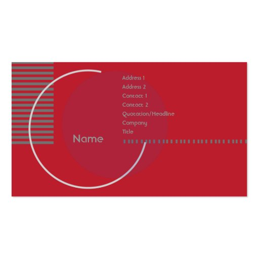 Red Geometric Circle - Business Business Cards