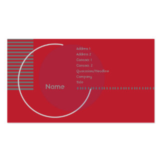 Red Geometric Circle - Business Pack Of Standard Business Cards