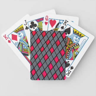 Red Geometric Diamond Pattern poker playing cards