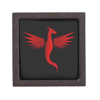 Red Geometric Dragon Premium Keepsake Box