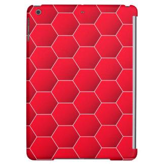 Red geometric hexagon