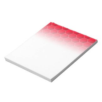 Red geometric hexagon notepad