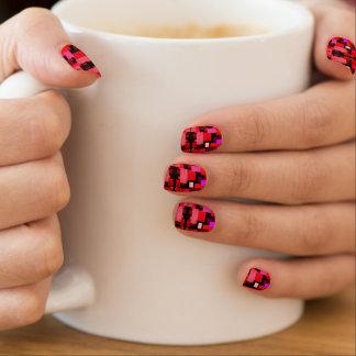 Red Geometric Pattern Minx Nail Art